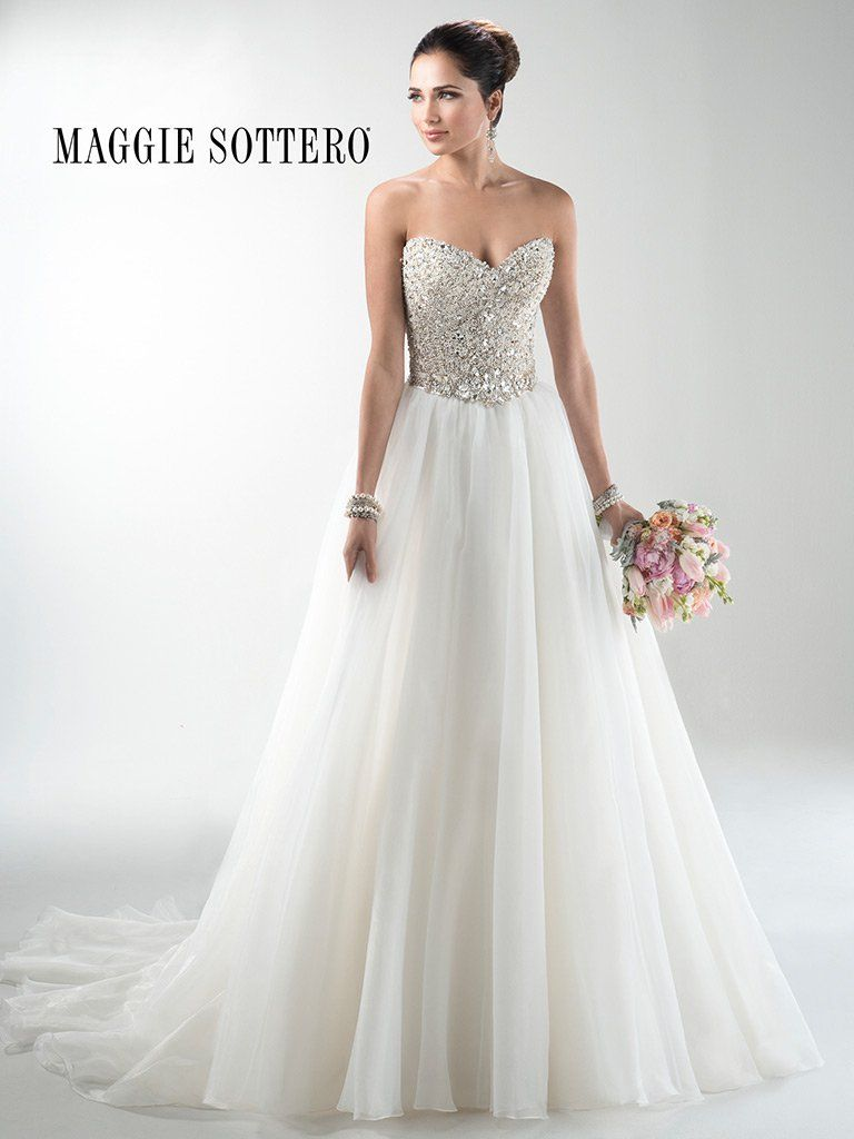 Maggie Sottero Wedding Dress Esme Marie 3ms745mc Front