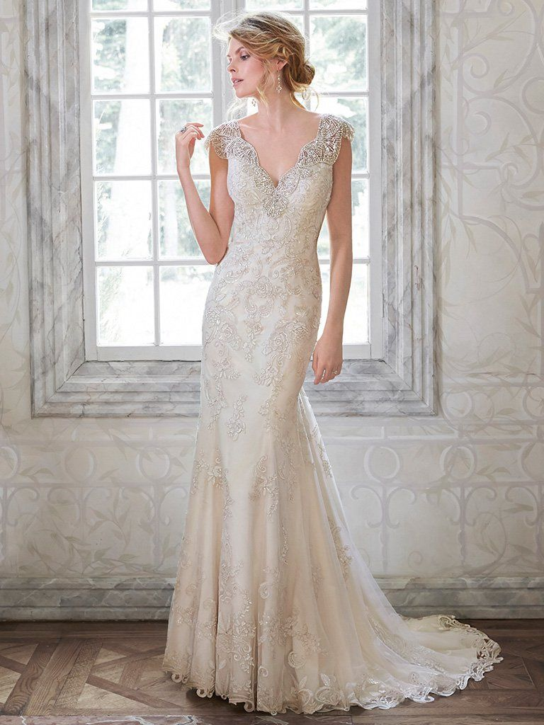 Find embellished lace wedding dresses from Maggie Sottero - Ellison by Maggie Sottero