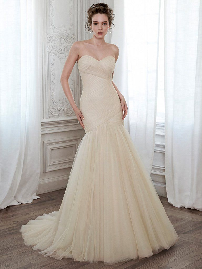 Pleated tulle wedding dress Lacey by Maggie Sottero