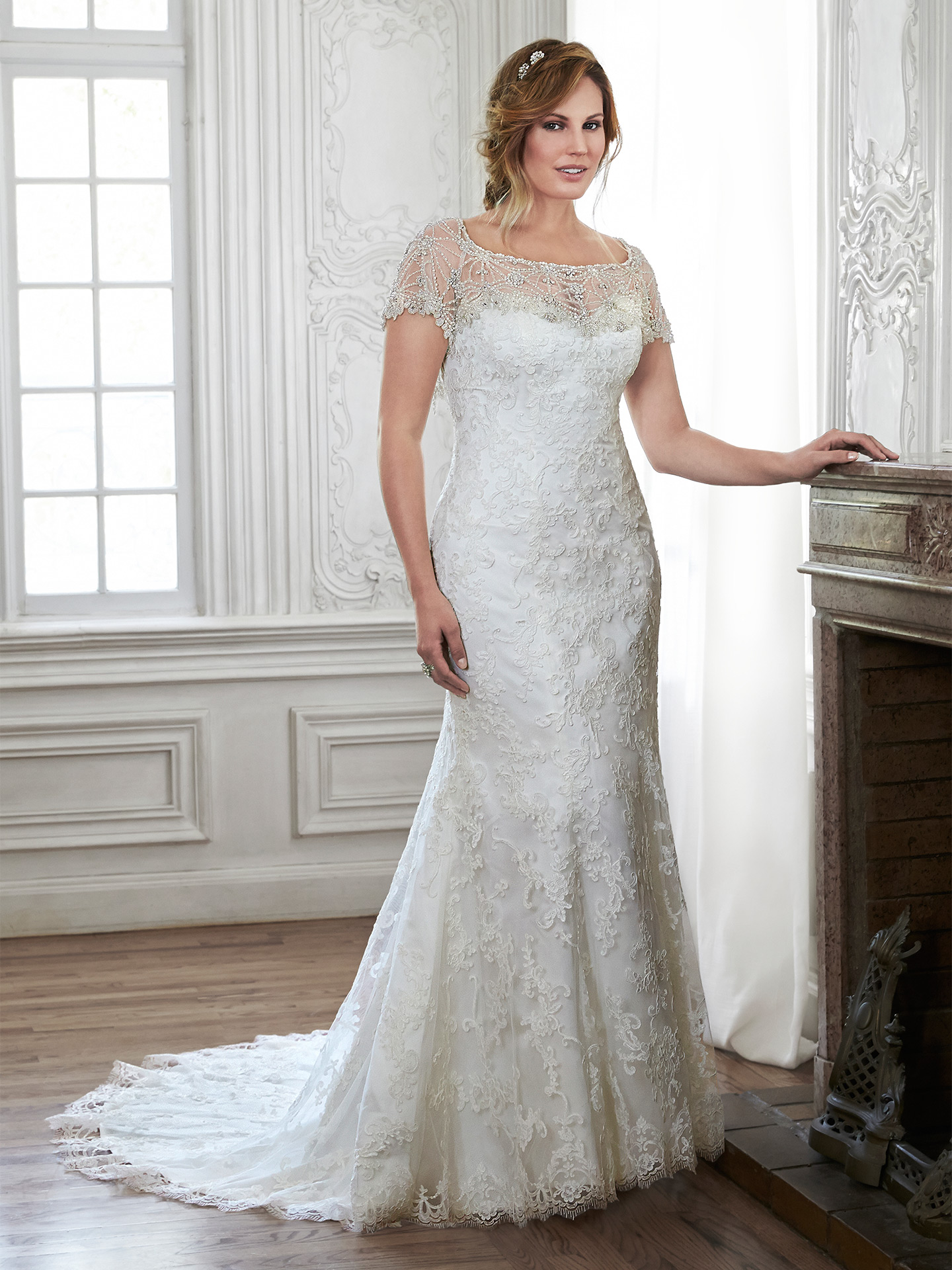 Flattering Wedding Dresses for Curvy Brides - Chesney by Maggie Sottero