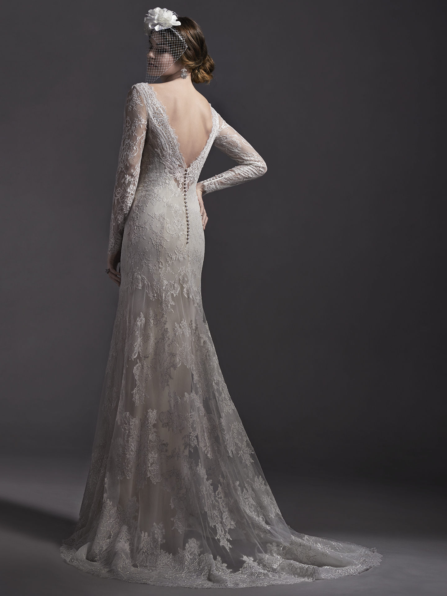 sleeved wedding dresses Danae by Sottero and Midgley