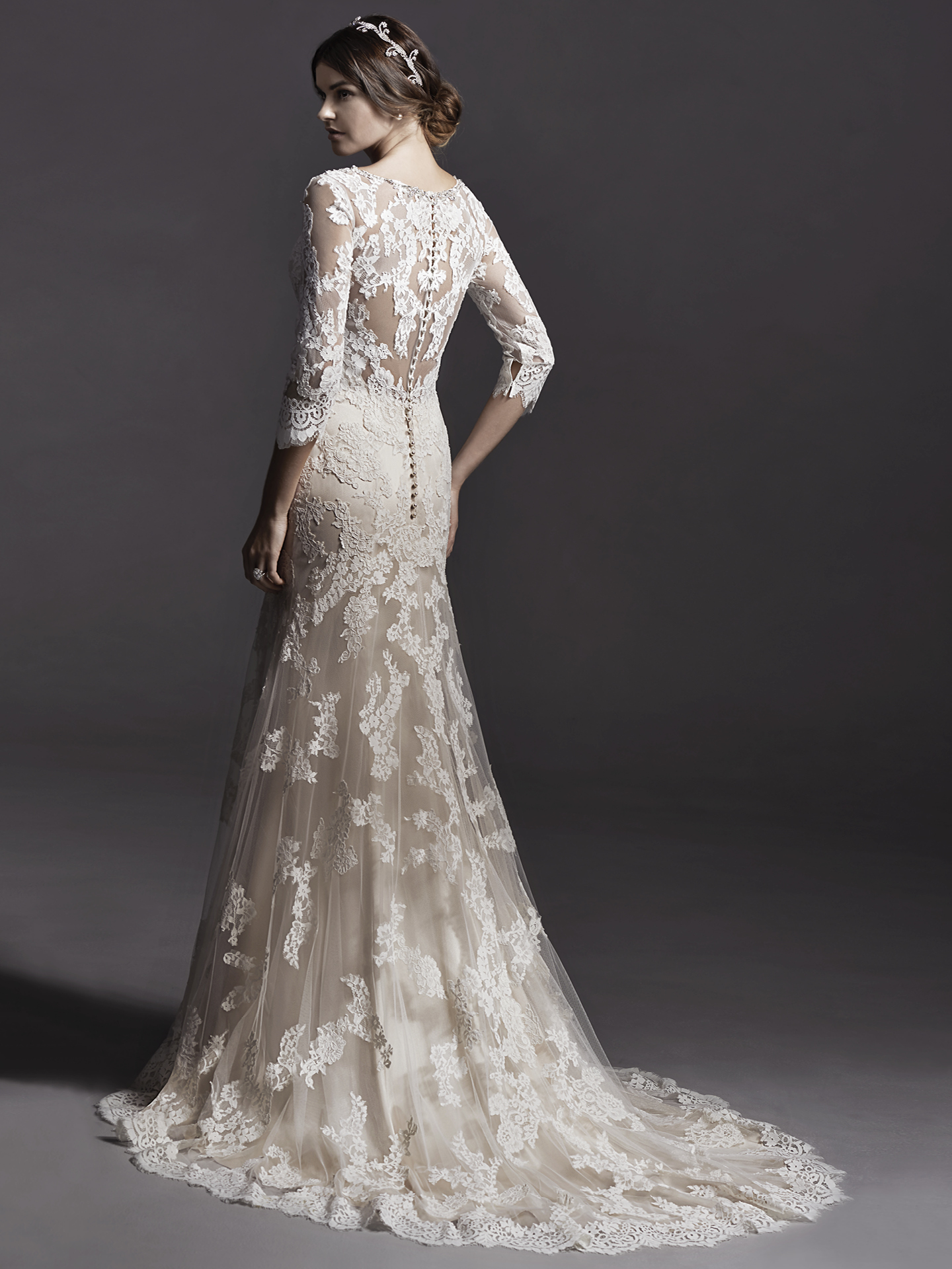 sleeved wedding dresses Annora by Sottero and Midgley