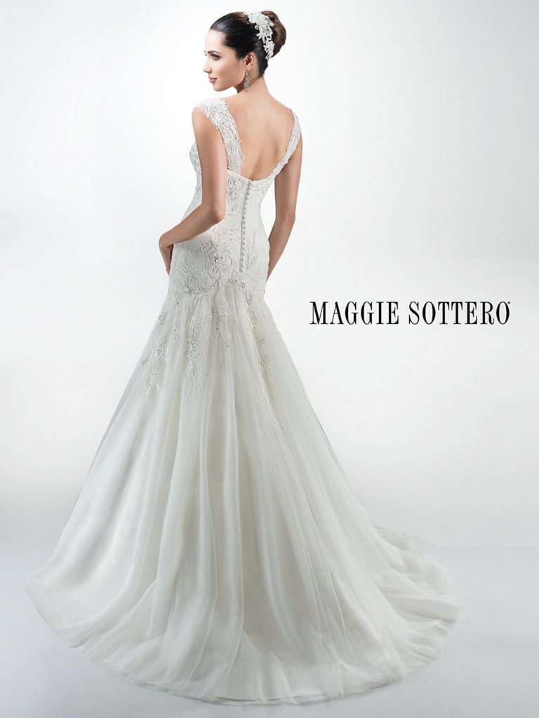 Maggie Sottero Wedding Dress Lily 4mt981 Back