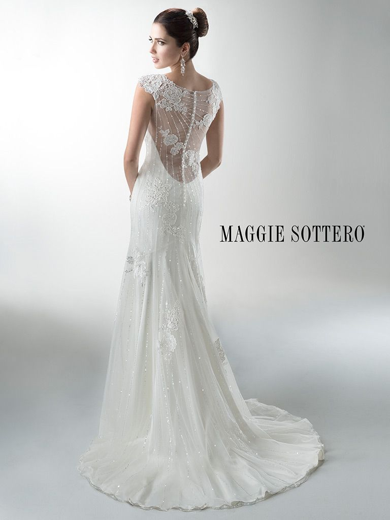 Maggie Sottero Wedding Dress Savannah Marie 4mw060 Back