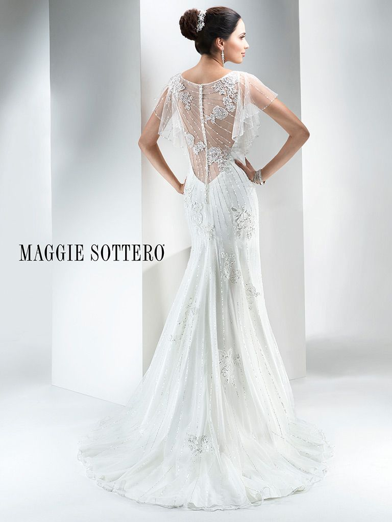 Maggie Sottero Wedding Dress Savannah 4mw989 Back