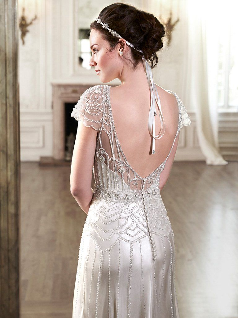 7a5cd13520f Ettia (5MN084) Vintage Beaded Wedding Dress by Maggie Sottero