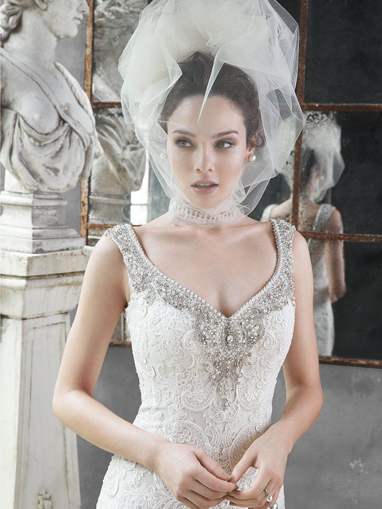 Picture-Perfect Veils for Your Vintage Wedding Dress - Darija by Maggie Sottero for vintage style wedding