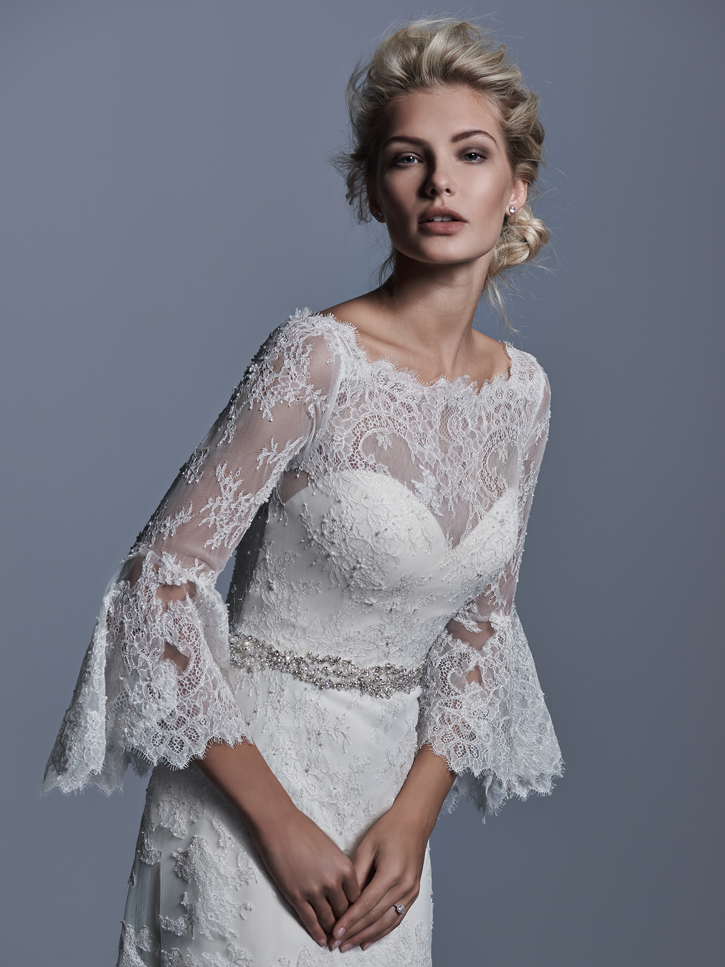 sleeved wedding dresses Fatima by Sottero and Midgley