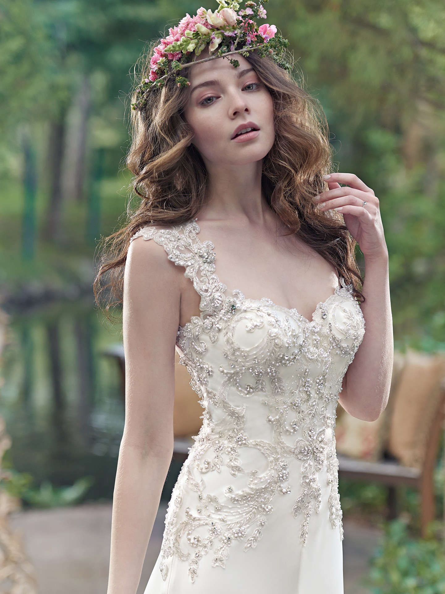 Simple satin wedding dresses love maggie love maggie a double keyhole back takes center stage in this sensual orlando satin sheath wedding dress featuring a swarovski crystal lace bodice sweetheart neckline ombrellifo Images