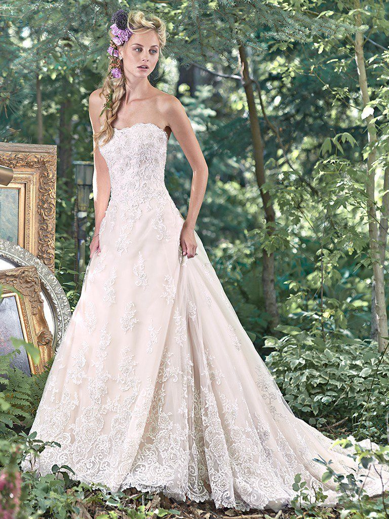 Maggie Sottero Wedding Dress Sarah 6mn198 Front