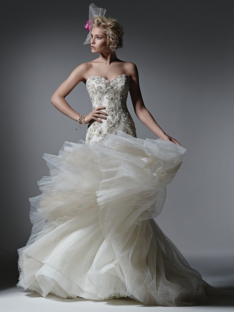 Pleated tulle wedding dress Radience by Sottero and Midgley