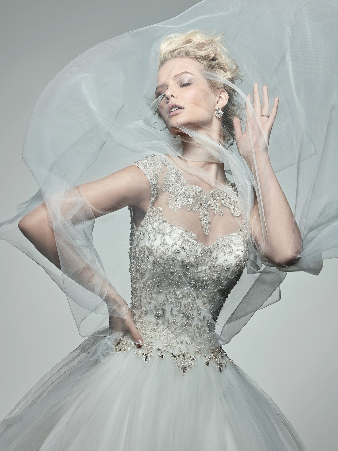 Canapes and Gowns Inspired by International Weddings - Monaco wedding dress by Sottero and Midgley