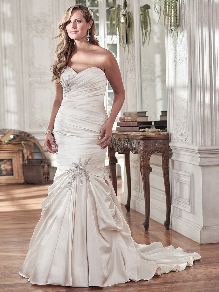 Flattering Wedding Dresses for Curvy Brides - Sydney by Maggie Sottero