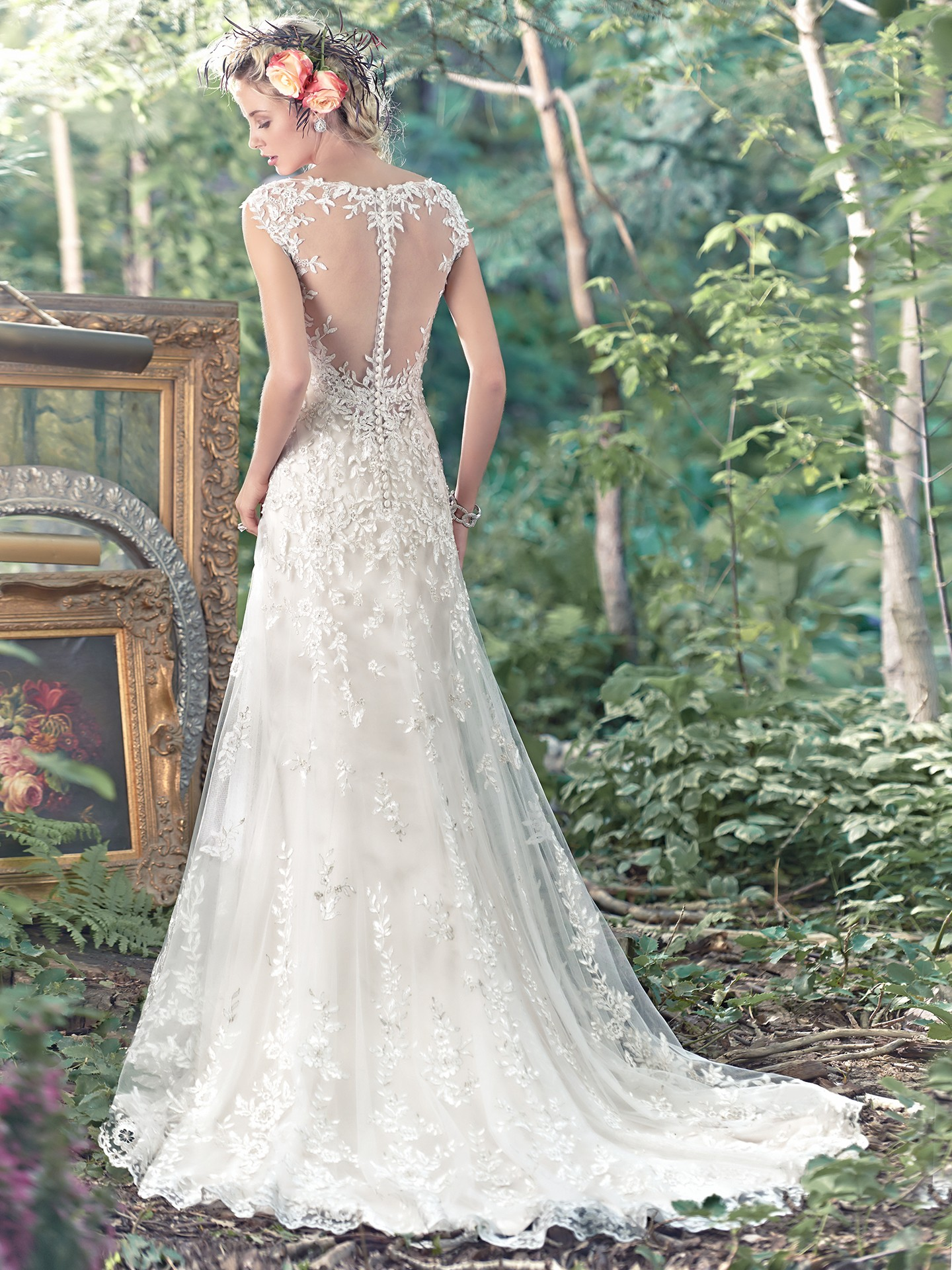 intrigue of illusion sleeves - Tami by Maggie Sottero