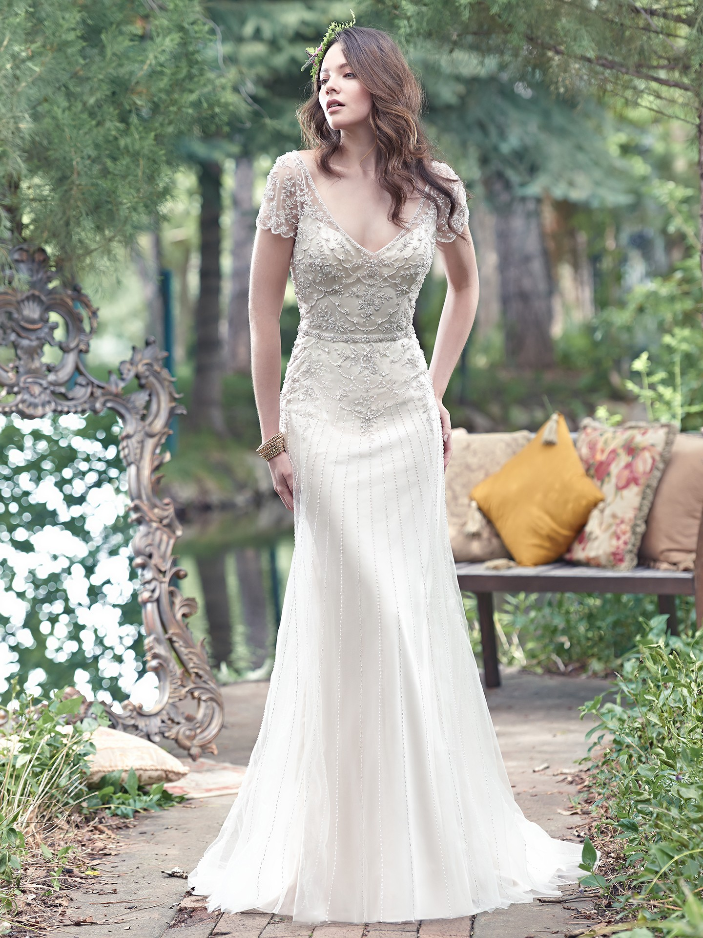 Vintage Wedding Gowns with Geometric Details : Love Maggie