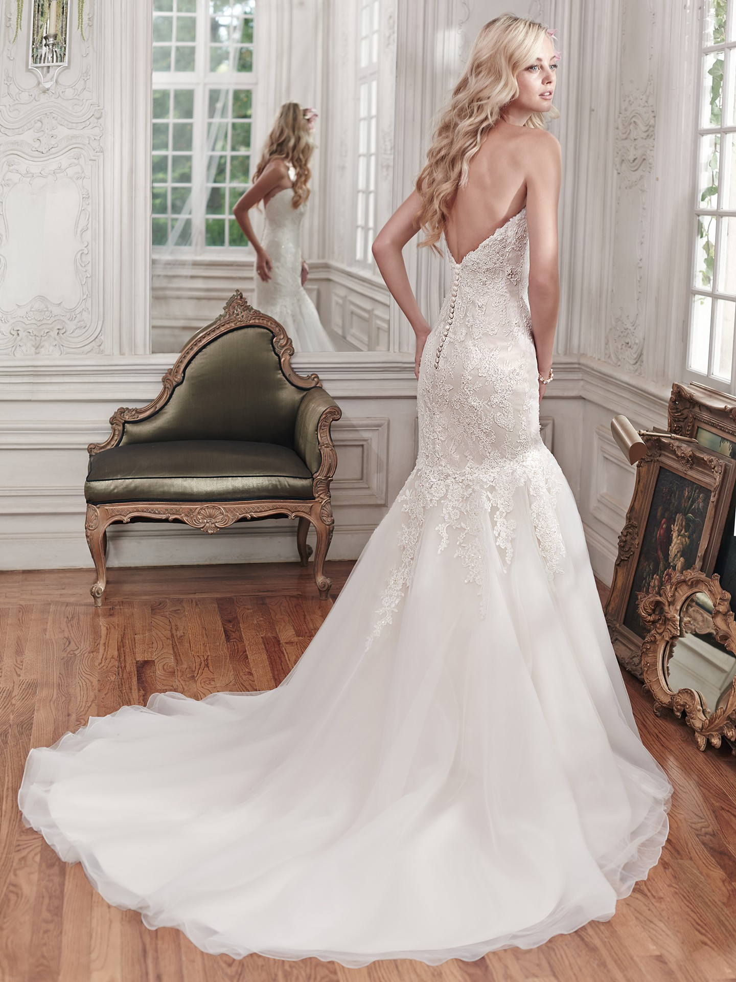 fit-and-flare dresses with sweetheart necklines Miranda by Maggie Sottero
