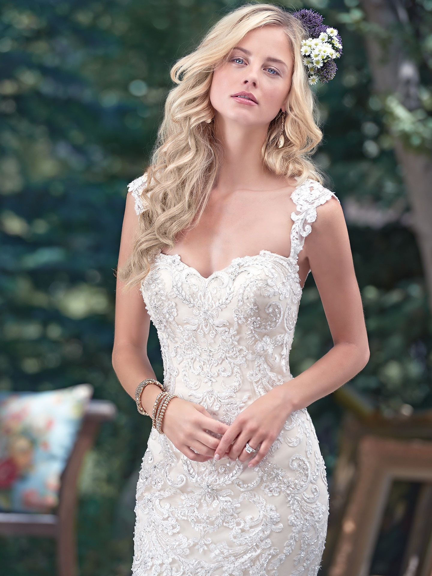 6 best wedding dresses for a rustic wedding for Maggie sottero mckenzie wedding dress