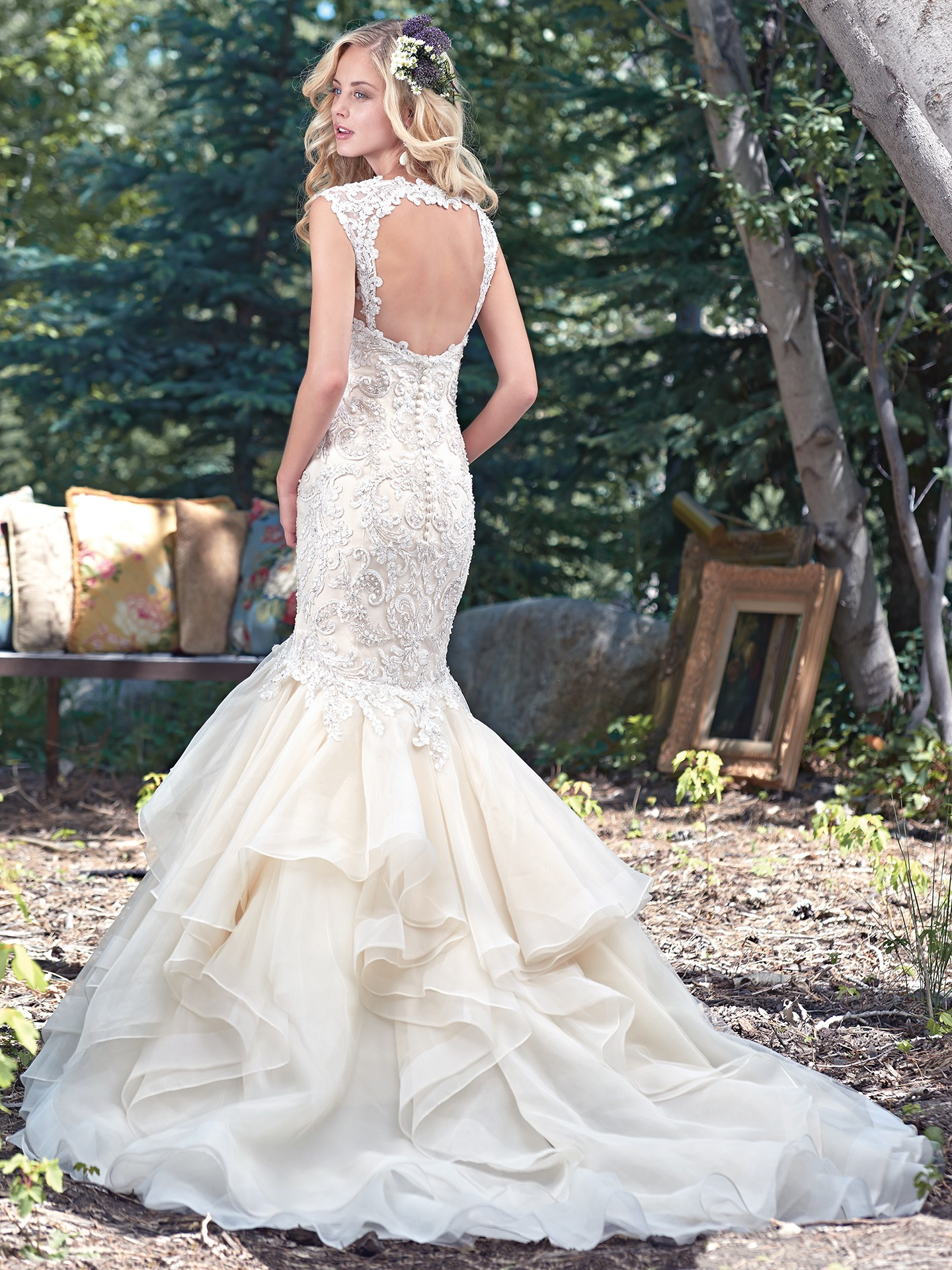 Maggie Sottero's Malina gown hugs all the right curves - Maggie Sottero's Malina fit-and-flare wedding dress