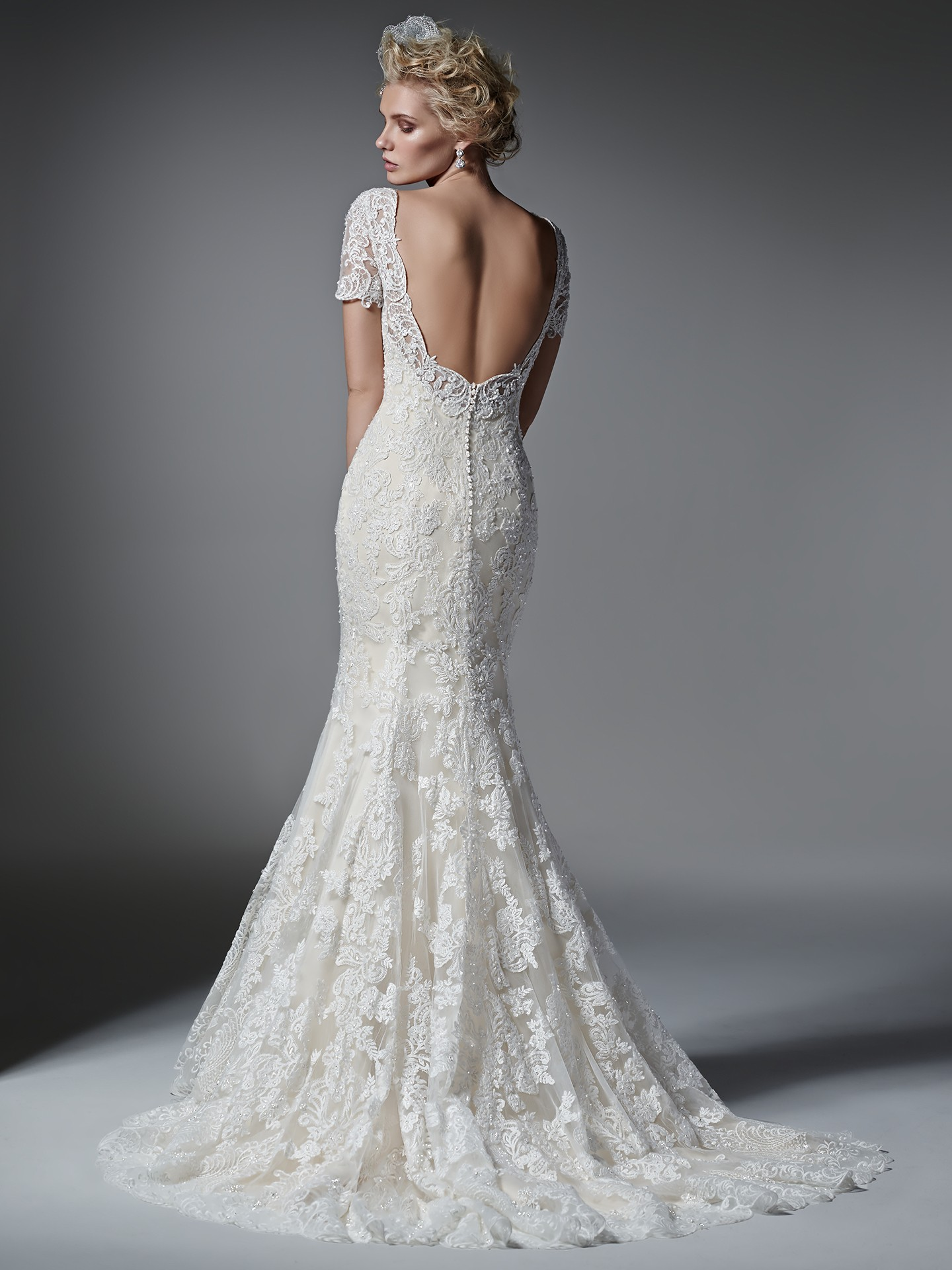sleeved wedding dresses Tierney by Sottero and Midgley