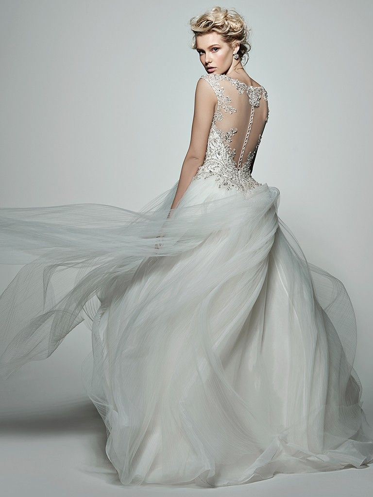 Pleated tulle wedding dress Monaco by Sottero and Midgley