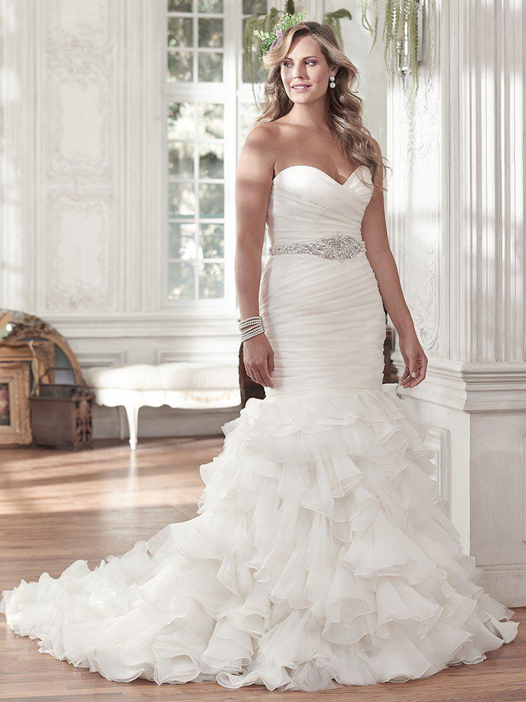 Flattering Wedding Dresses for Curvy Brides - Divina by Maggie Sottero