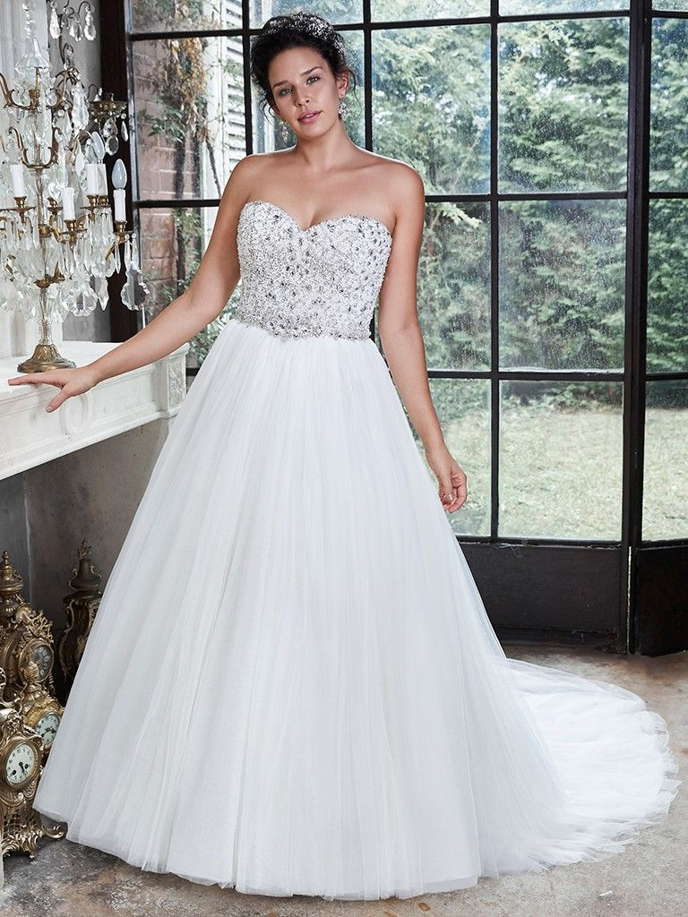 Popular Wedding Dresses On Pinterest - Esme wedding dress by Maggie Sottero. Follow us on Pinterest!