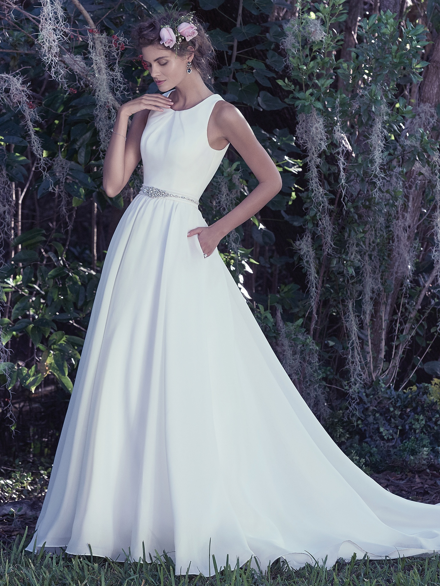 Simple Wedding Dress with Voluminous Skirt - Anita by Maggie Sottero