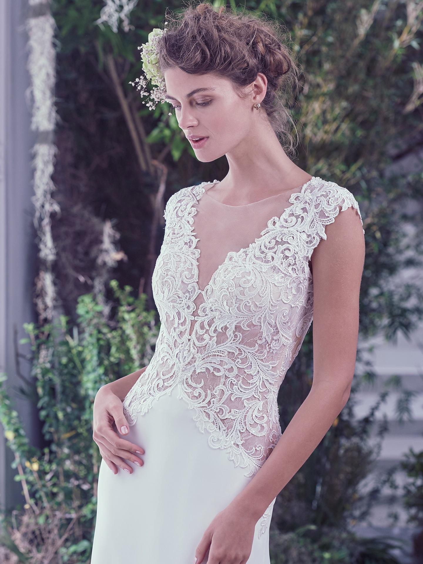 Vintage Wedding Dress with Illusion Bodice - Love Maggie : Love Maggie
