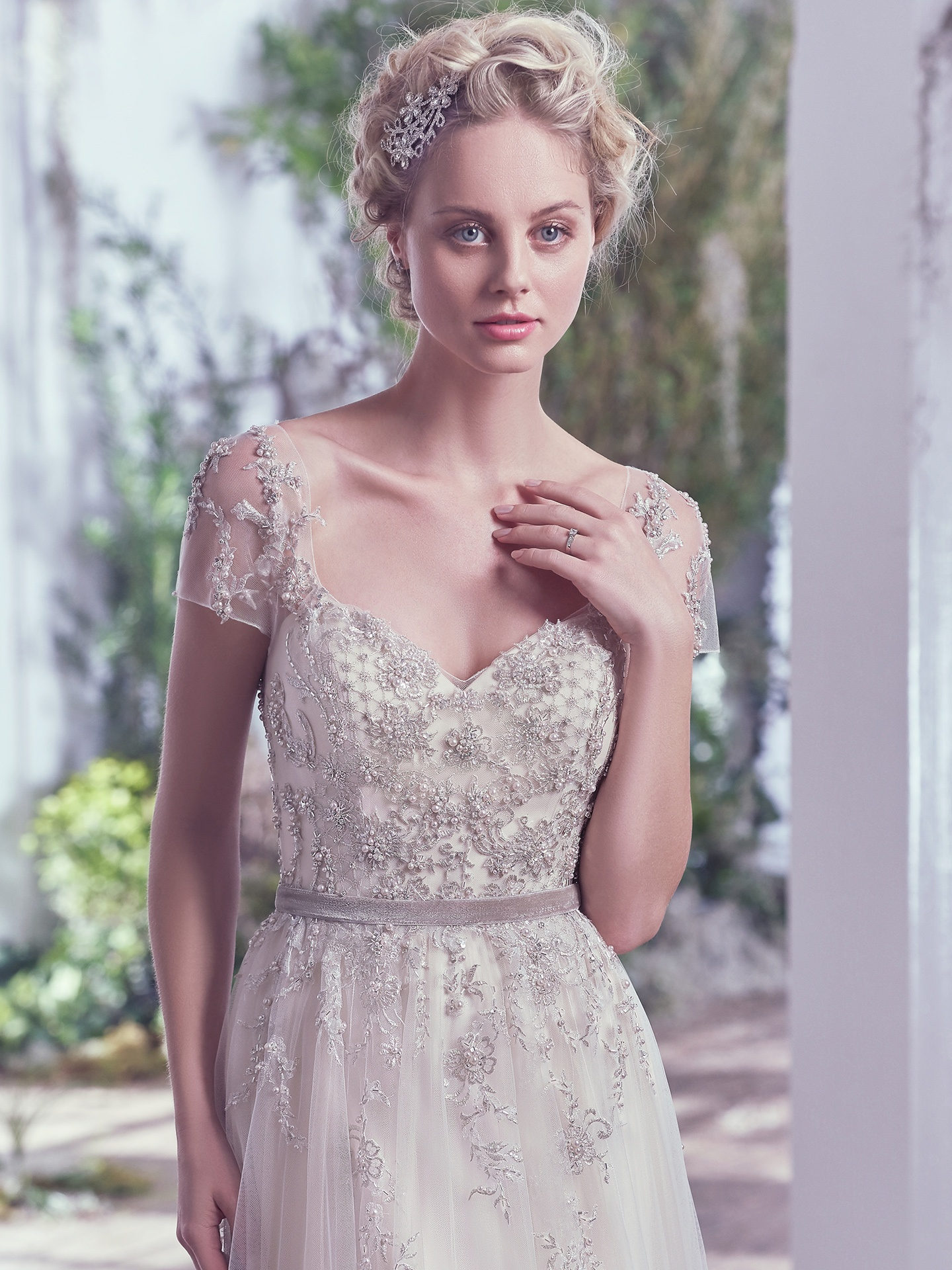elegant whimsical vintage wedding dress
