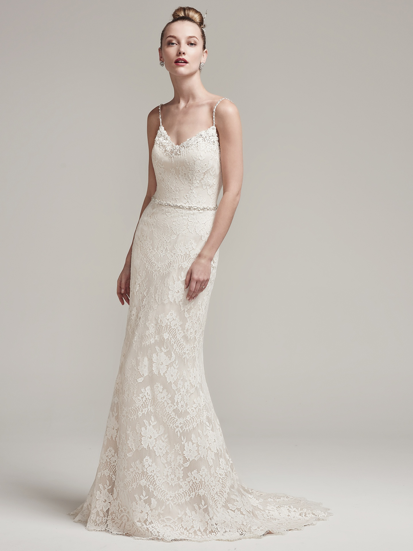 Wedding Dress with Chic Spaghetti Straps - Love Maggie : Love Maggie