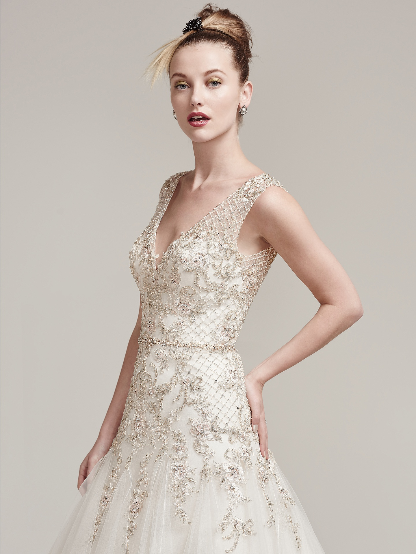Wedding Dress Colors in Shades of White - Champagne wedding dresses by Maggie Sottero - Shauntelle