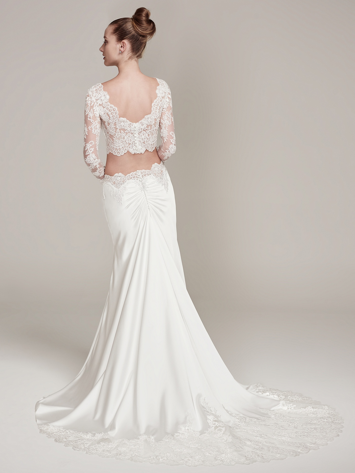 sleeved wedding dresses Fiona by Sottero and Midgley