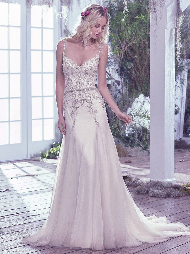 Vintage Wedding Gowns with Geometric Details - Andraea wedding dress by Maggie Sottero