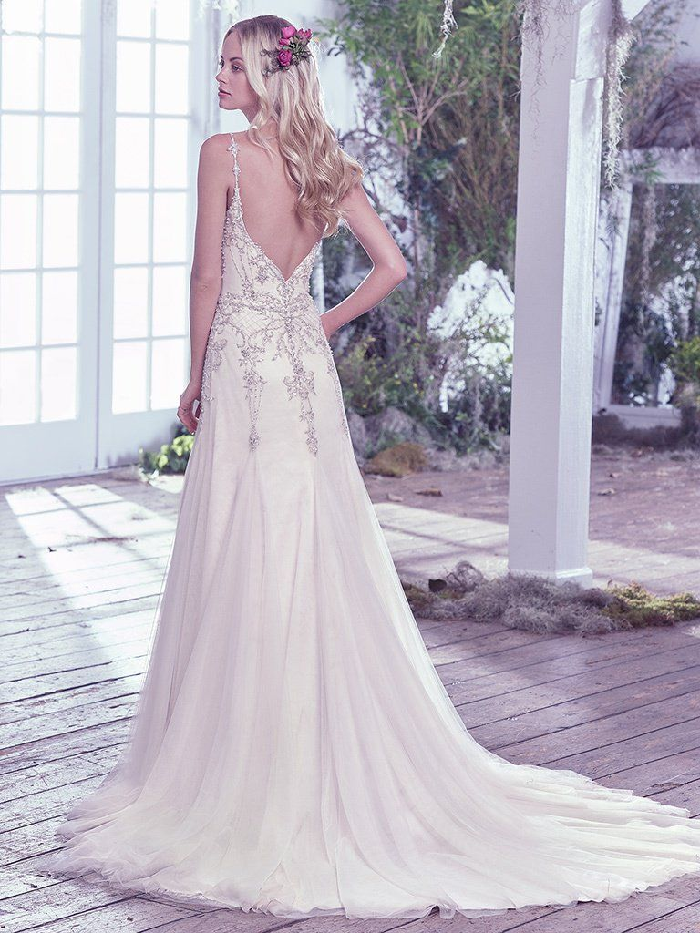 Lightweight Gatsby Gowns for a Summer Wedding - Glittery Andraea wedding dress by Maggie Sottero