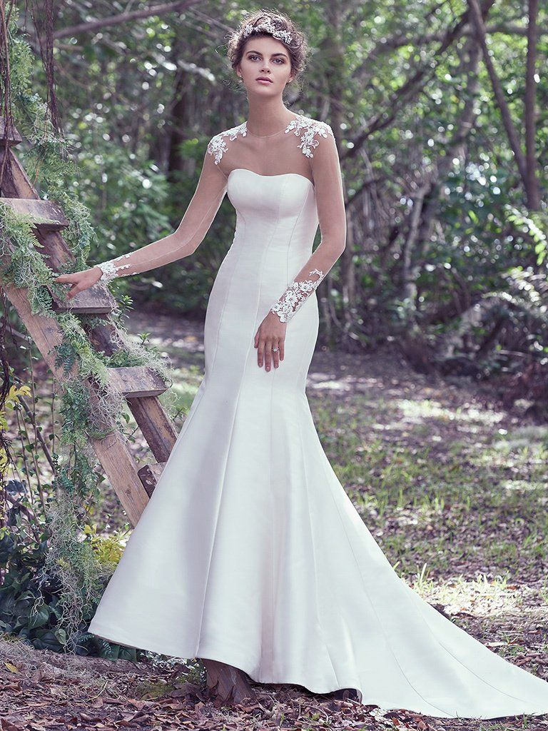What Your Wedding Colors Say About You - Dante wedding dress by Maggie Sottero