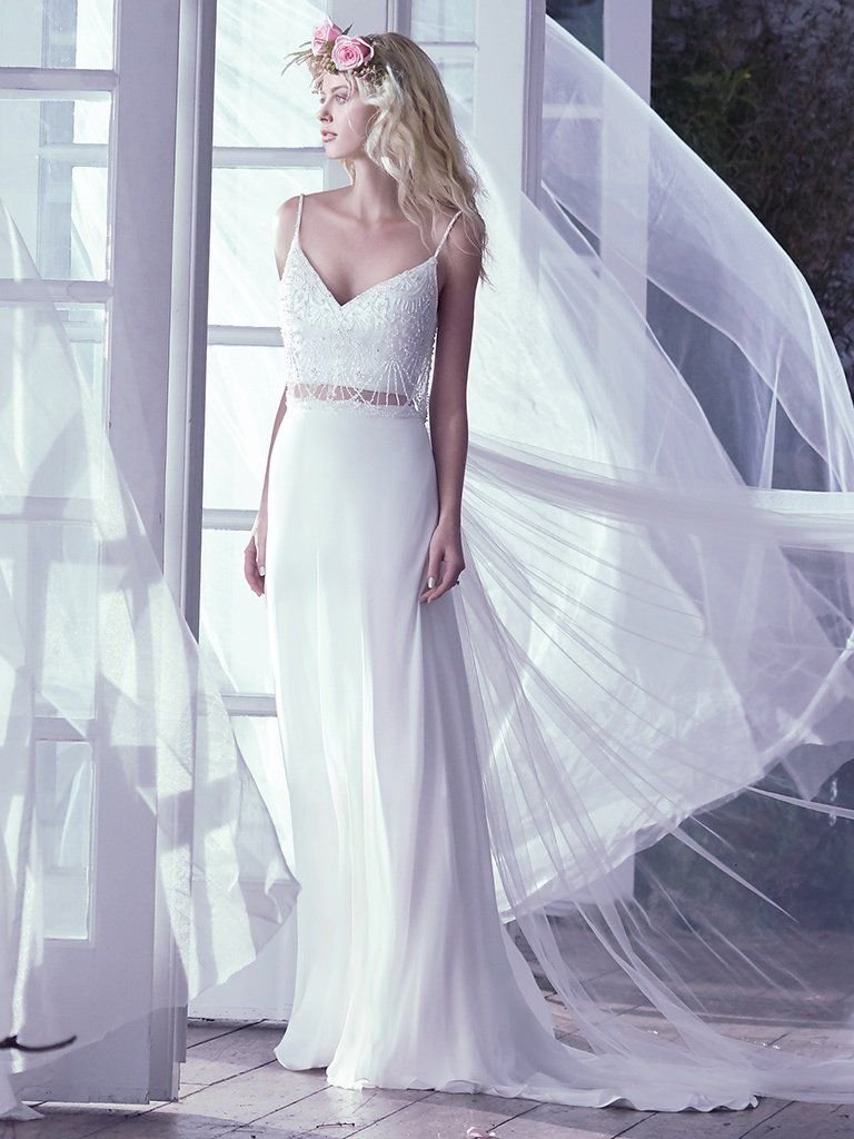 What Your Wedding Colors Say About You - Griffyn wedding dress by Maggie Sottero