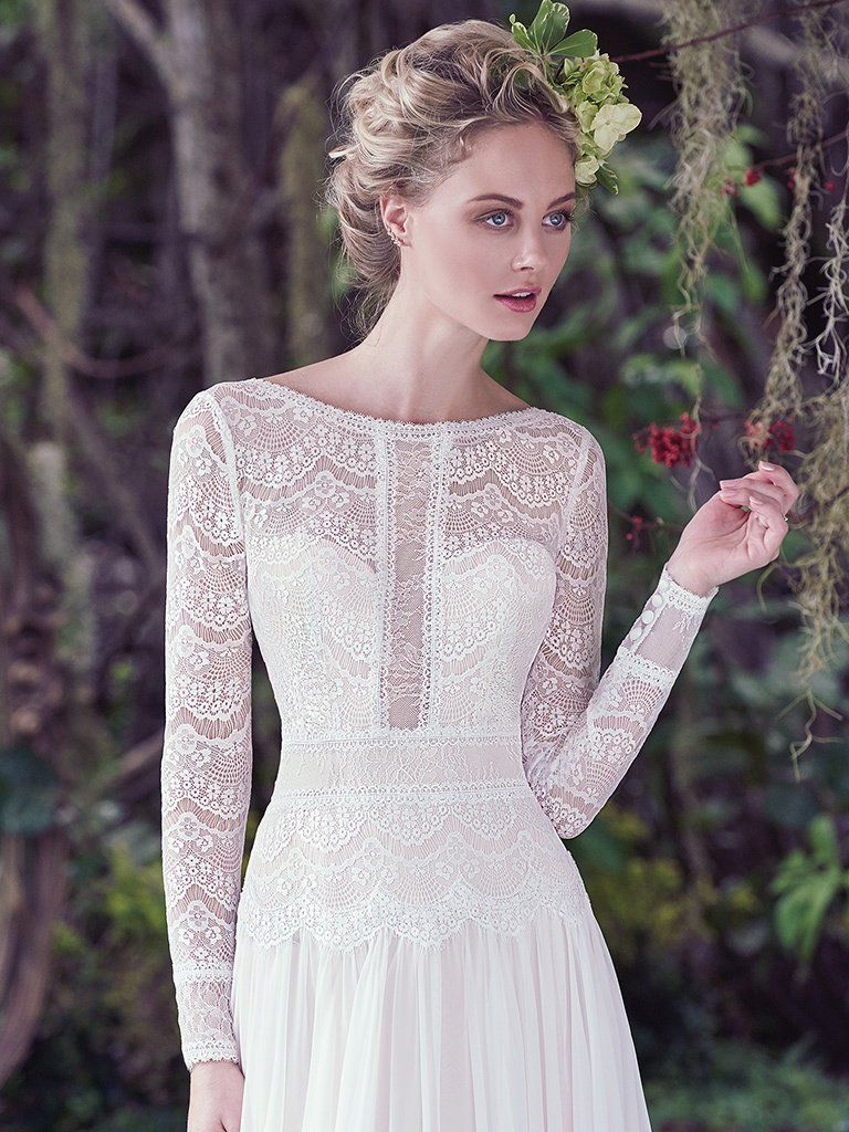 Favorite Sleeved Wedding dresses - Boho wedding dress Deirdre by Maggie Sottero