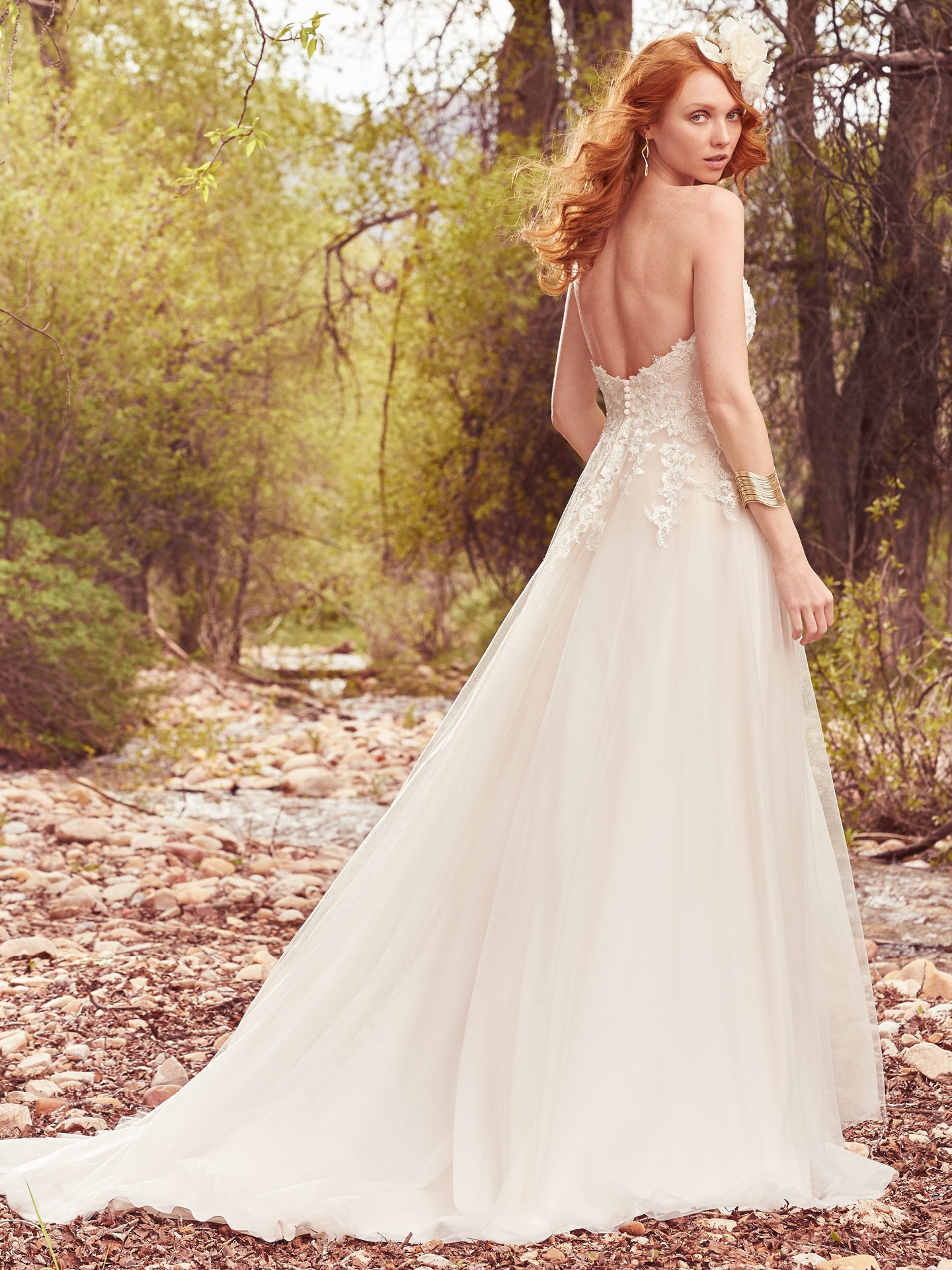 Ivory over blush wedding dress by Maggie Sottero. Colorful Wedding Dresses For The Bold Bride