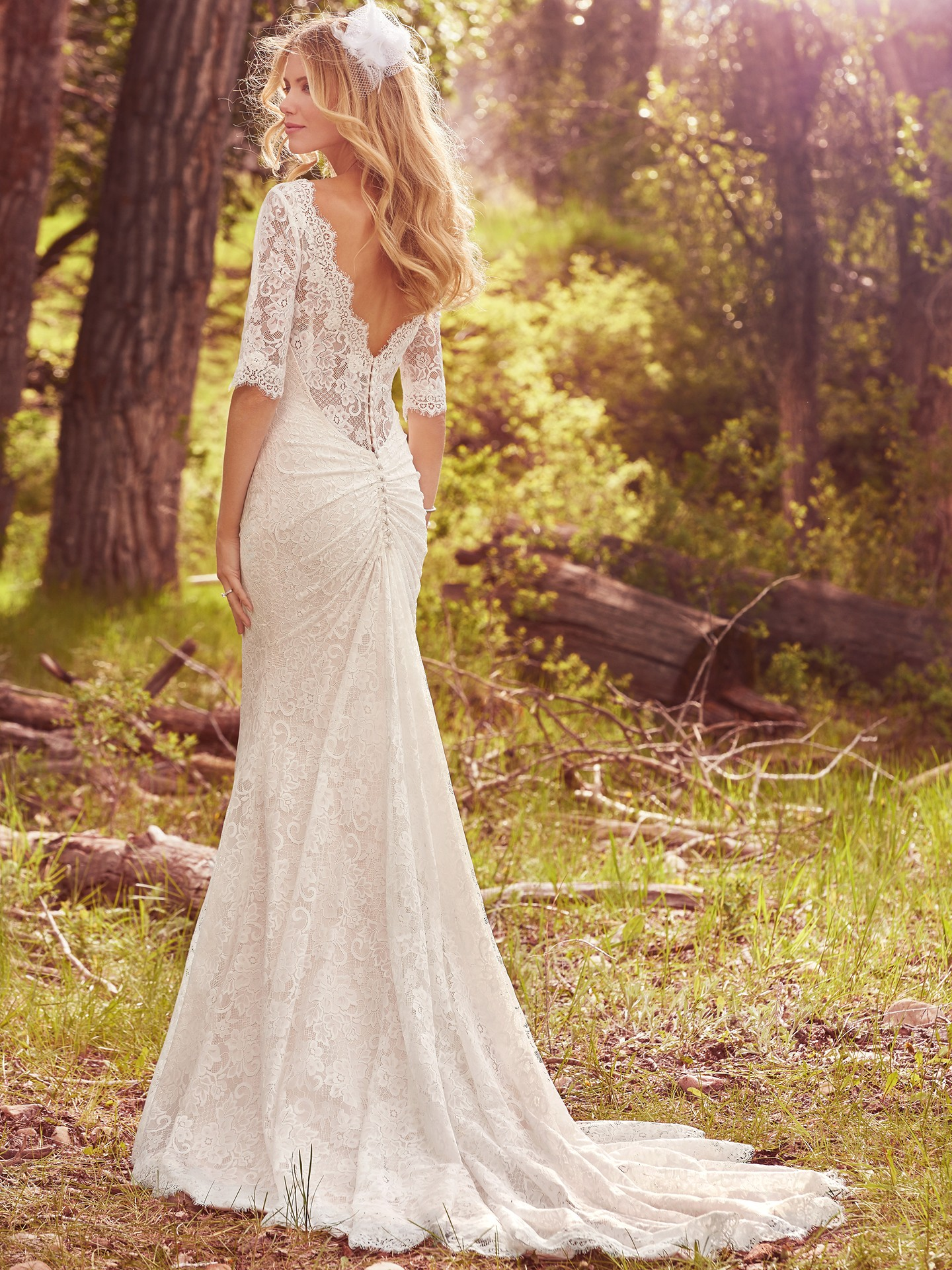 Elbow length sleeved dress McKenzie by Maggie Sottero