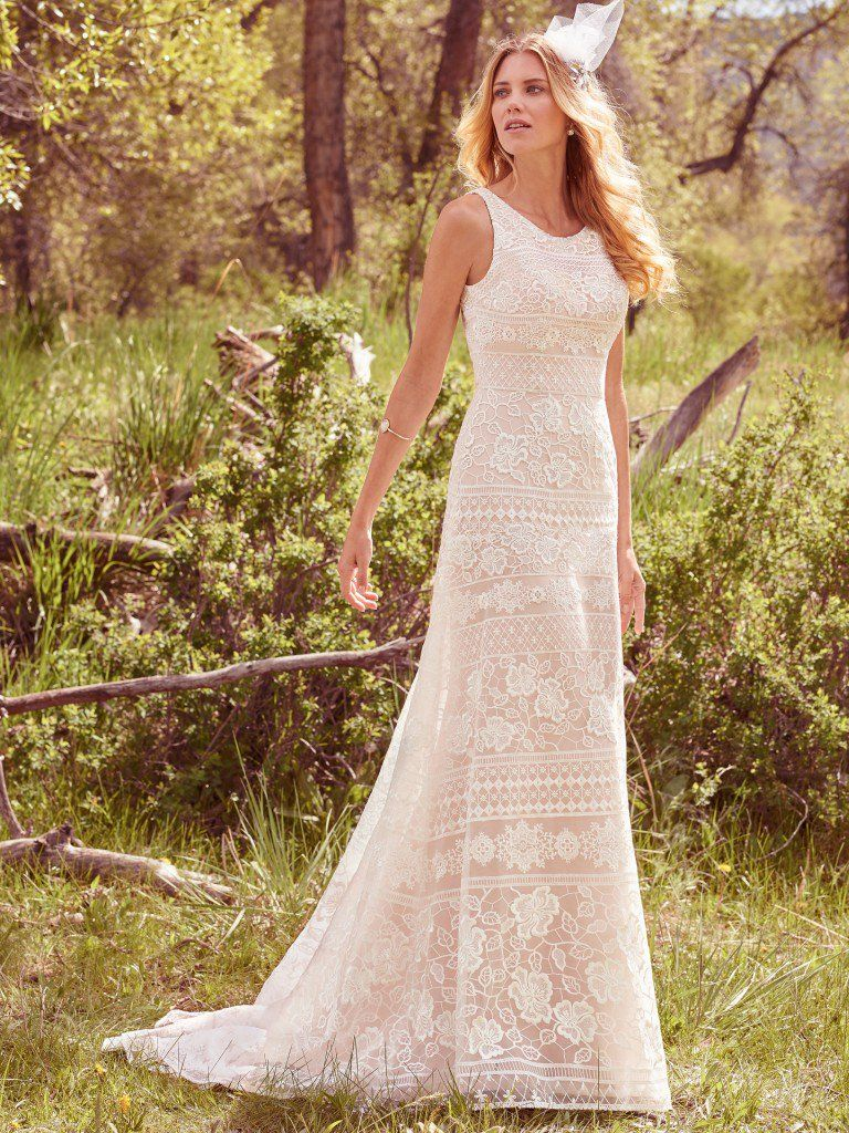 Vintage Wedding Gowns with Geometric Details - Danielle wedding dress by Maggie Sottero