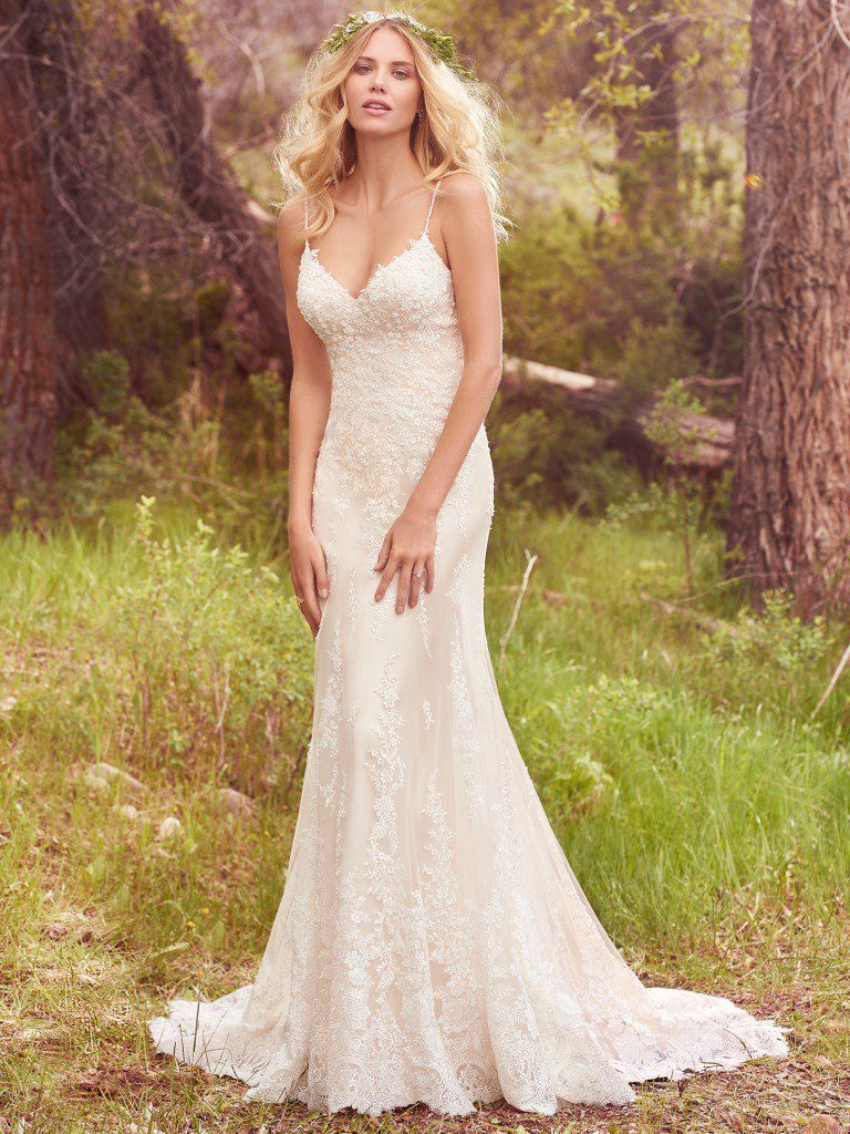 Best Accessories for Your Boho Wedding Dress - Nola boho wedding dress by Maggie Sottero paired with an all green