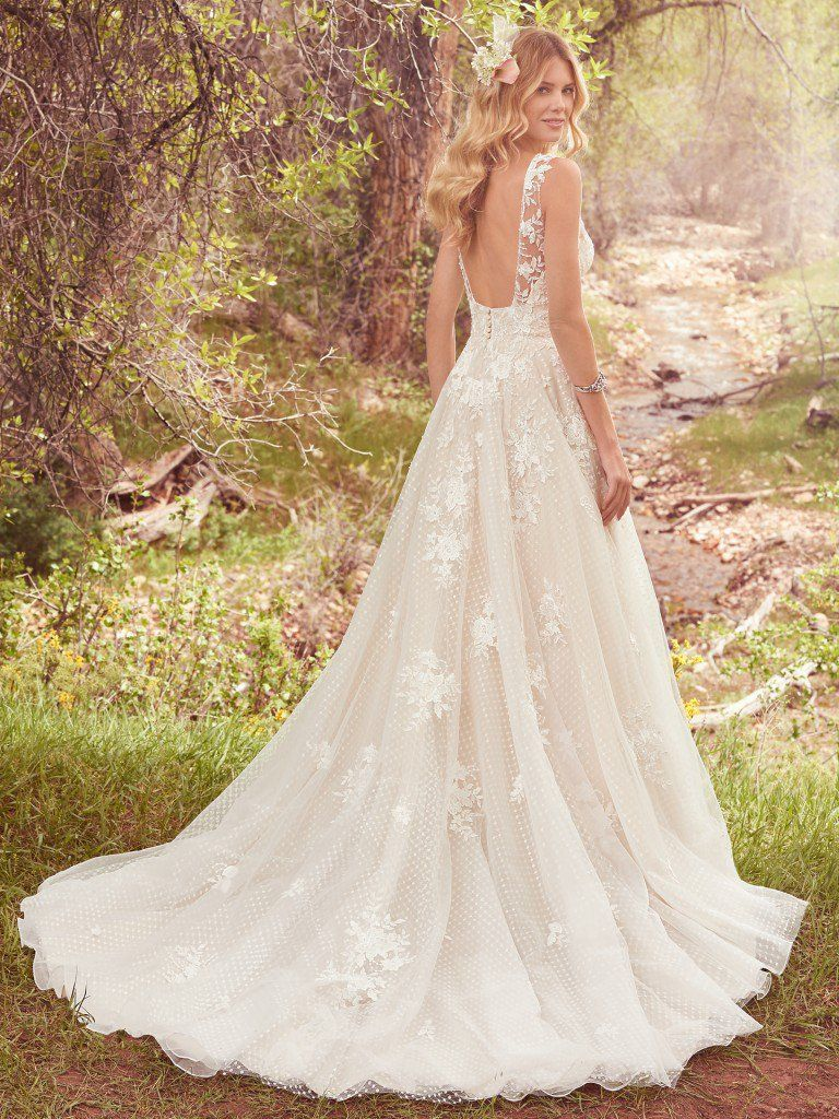 Seven Types of Lace Wedding Dresses To Know When Shopping For A Wedding Dress: Maggie Sottero's Lace Library. Ivana wedding dress by Sottero and Midgley