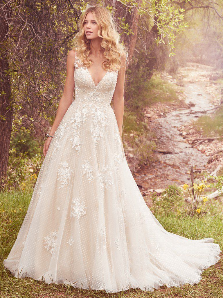 f768c68795e Meryl (7MS339) Vintage Lace Wedding Dress by Maggie Sottero