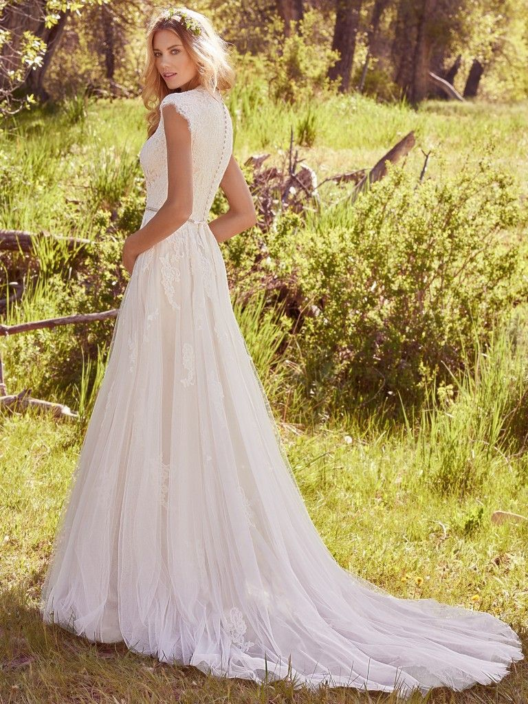 98dcacc1e829 Ashley (7MS410) Modest Lace Wedding Dress by Maggie Sottero