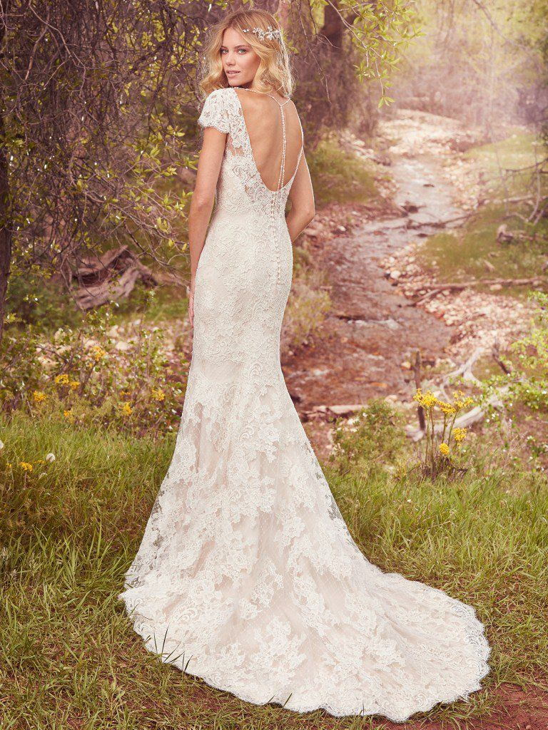 Lightweight Gatsby Gowns for a Summer Wedding - Hudson wedding dress by Maggie Sottero