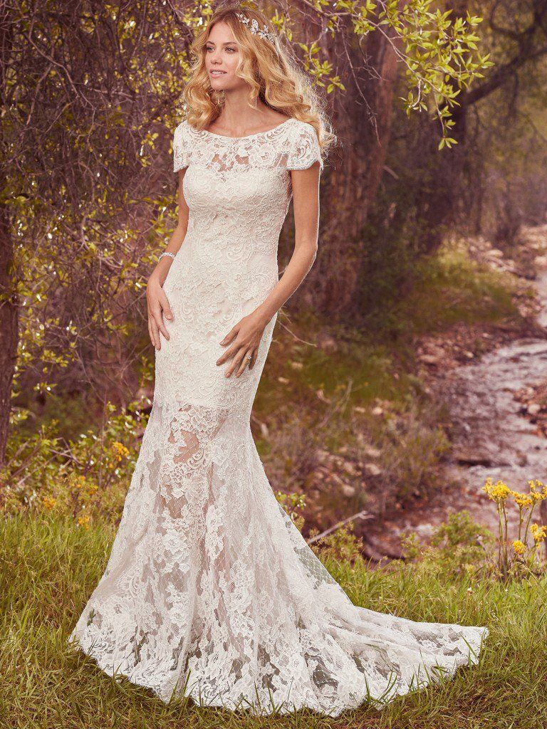 "More ""Second Looks"" for Your Ceremony and Reception - Hudson Marie wedding dress by Maggie Sottero"