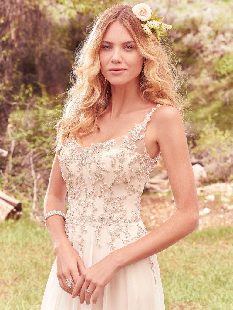 Wedding Dress Colors in Shades of White - Champagne wedding dresses by Maggie Sottero - Caprice