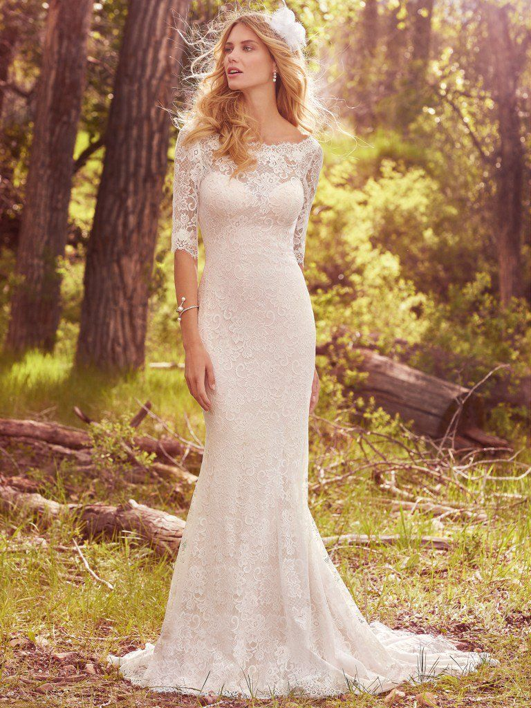 6 Best Wedding Dresses for a Rustic Wedding - McKenzie wedding dress by Maggie Sottero