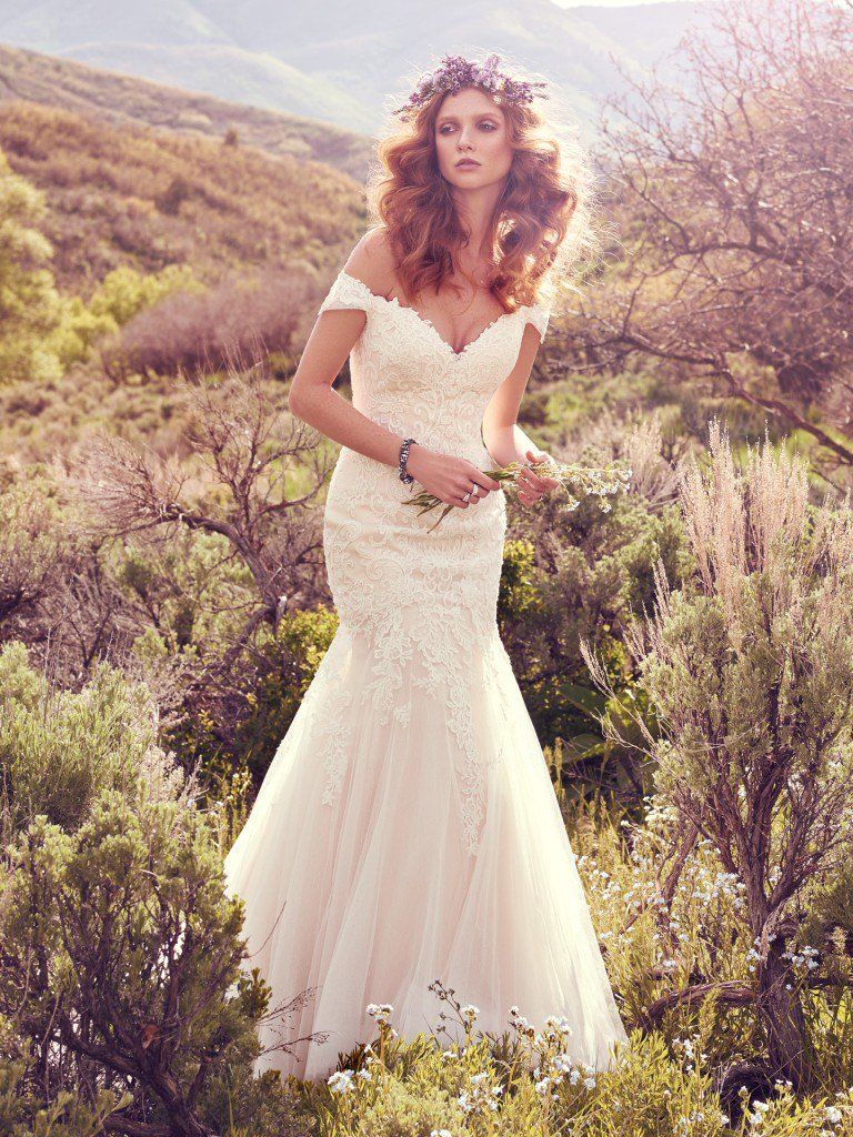 Famous weddings throughout history - Off-the-shoulder-wedding-dress Afton by Maggie Sottero