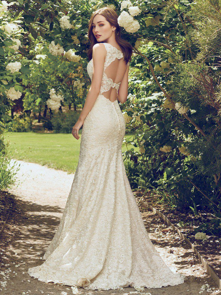 Find the perfect gown for your wedding dress budget with Maggie Sottero's guide. Hope wedding dress by Rebecca Ingram.